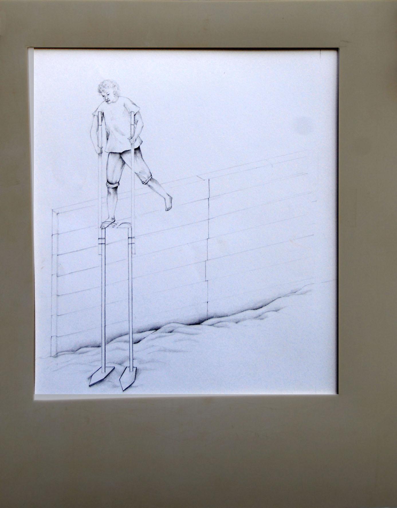 Eugenia Vanni_Passeggiata marina, 2008, parte 1, matita su carta, gomma, 44x51 cm_Galleria Riccardo Crespi